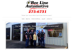Bee Line Automotive, responsive website design