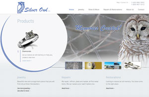 Silver Owl Jewelers responsive website design