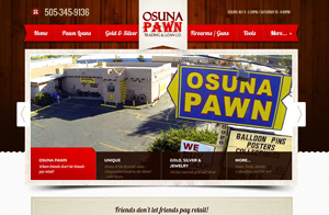 Osuna Pawn website screenshot responsive design.