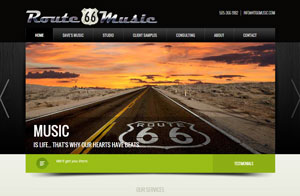 Sound Studio Route 66 Music website responsive design screenshot