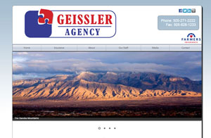 Website design screenshot -Chavez-Geissler Farmers Insurance Agency