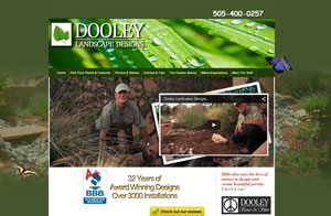Website screenshot Dooley Landscape Designs