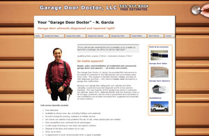 Website & Graphic design screenshot -Garage Door Doctor in Albuquerque, NM