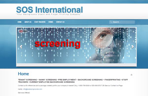 Joomla Website & Graphic design screenshot -SOS International
