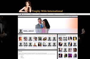 Website & Graphic design screenshot -Trophy Wife International