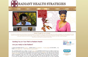 Website design screenshot - Radiant Health Strategies