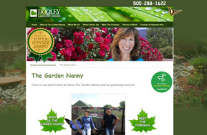 Website design screenshot -The Garden Nanny